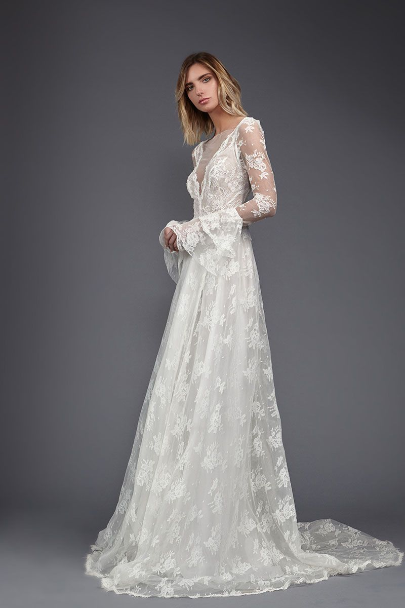 bohemian boho wedding dress boho wedding dress 70 Best Bohemian Wedding Dresses Boho Dress Ideas For