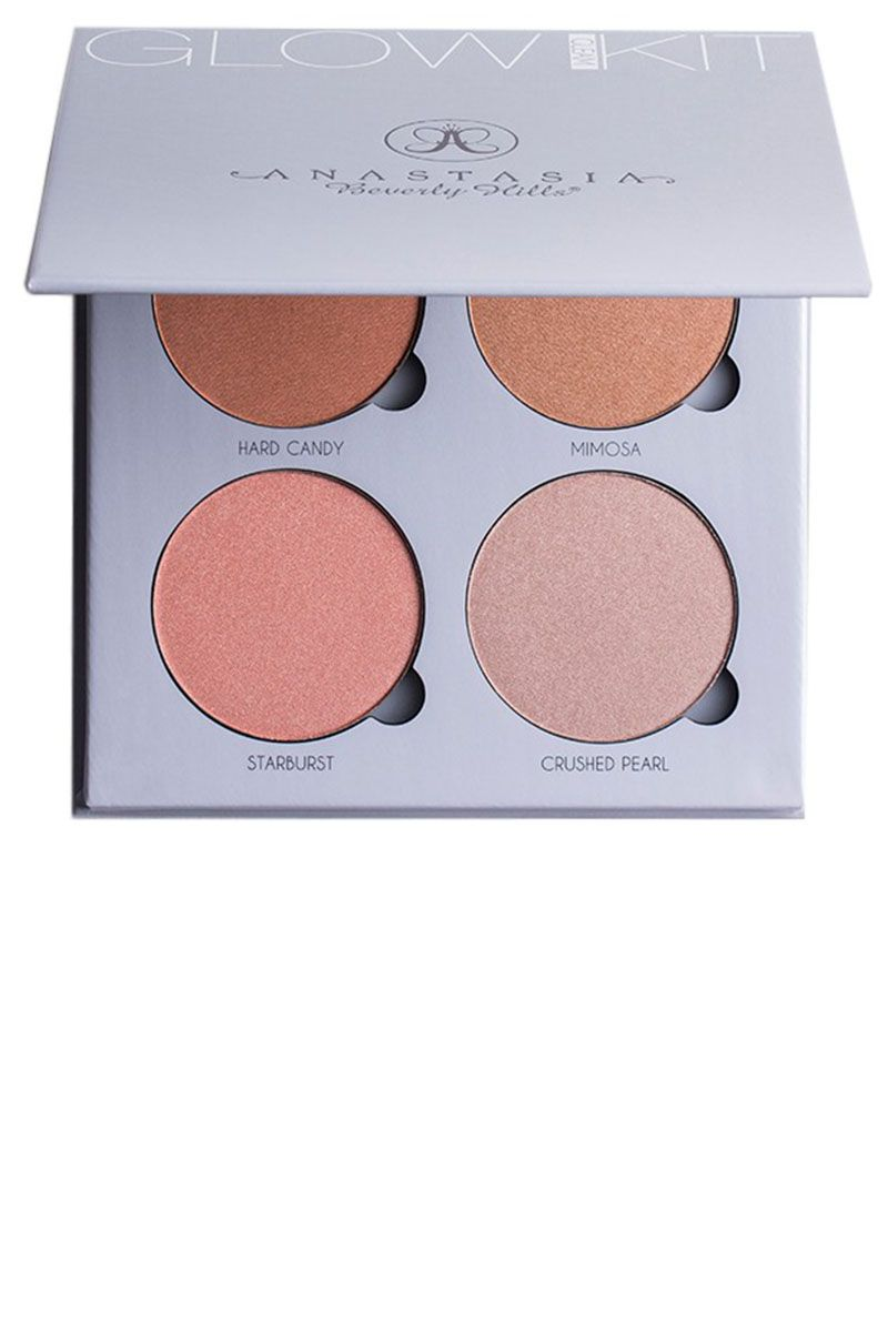 """<p><strong>Her Tip: </strong> """"There are such beautiful shades in this palette. I love to dampen a blending brush with <a href=""""http://www.sephora.com/luminous-dewy-skin-mist-P399623"""">Tachta Skin Mist</a> and buff the highlighter in the desired areas. By wetting the product it becomes more intense.""""—      Sarah Tanno (<a href=""""https://www.instagram.com/sarahtannomakeup/?hl=en"""">@sarahtannomakeup</a>)</p><p><strong>Her Pick: Anastasia </strong>Glow Kit in Gleam, $40, <a href=""""https://urldefense.proofpoint.com/v2/url?u=http-3A__www.anastasiabeverlyh"""" target=""""_blank"""">anastasiabeverlyhills.com</a>.<br></p>"""