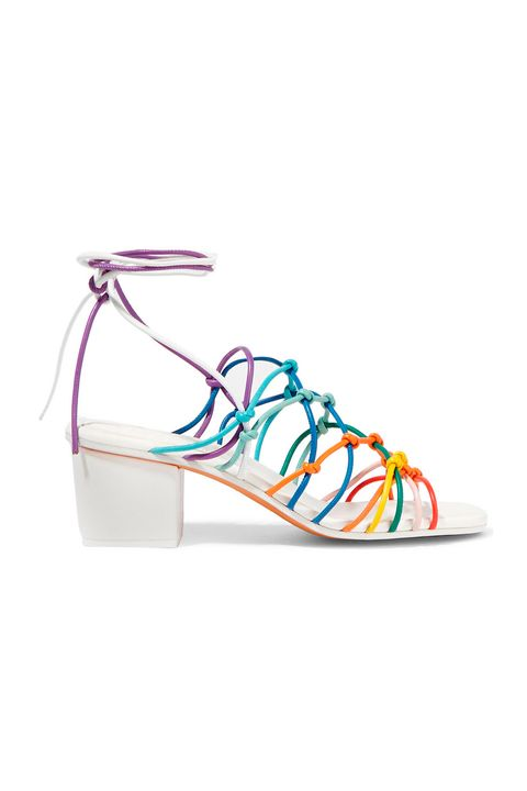 "<p>""In the summer, I wear a lot of lace-up sandals because they're so versatile. My current favorites: Isabel Marant and Chloe. I'm also really into block heels—they're much more comfortable than stilettos and still look great with everything from jeans to dresses.""</p><p>Chloe Net Sandals, $895, <a href=""https://www.net-a-porter.com/us/en/product/683824/chloe/knotted-leather-sandals"" target=""_blank"">net-a-porter.com</a></p>"