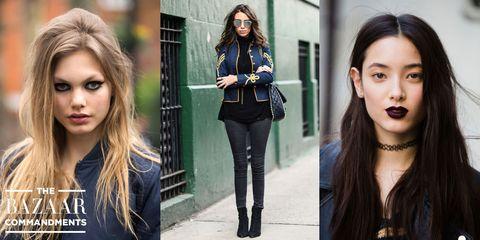 Clothing, Face, Nose, Lip, Hairstyle, Chin, Eyebrow, Photograph, Outerwear, Eyelash,