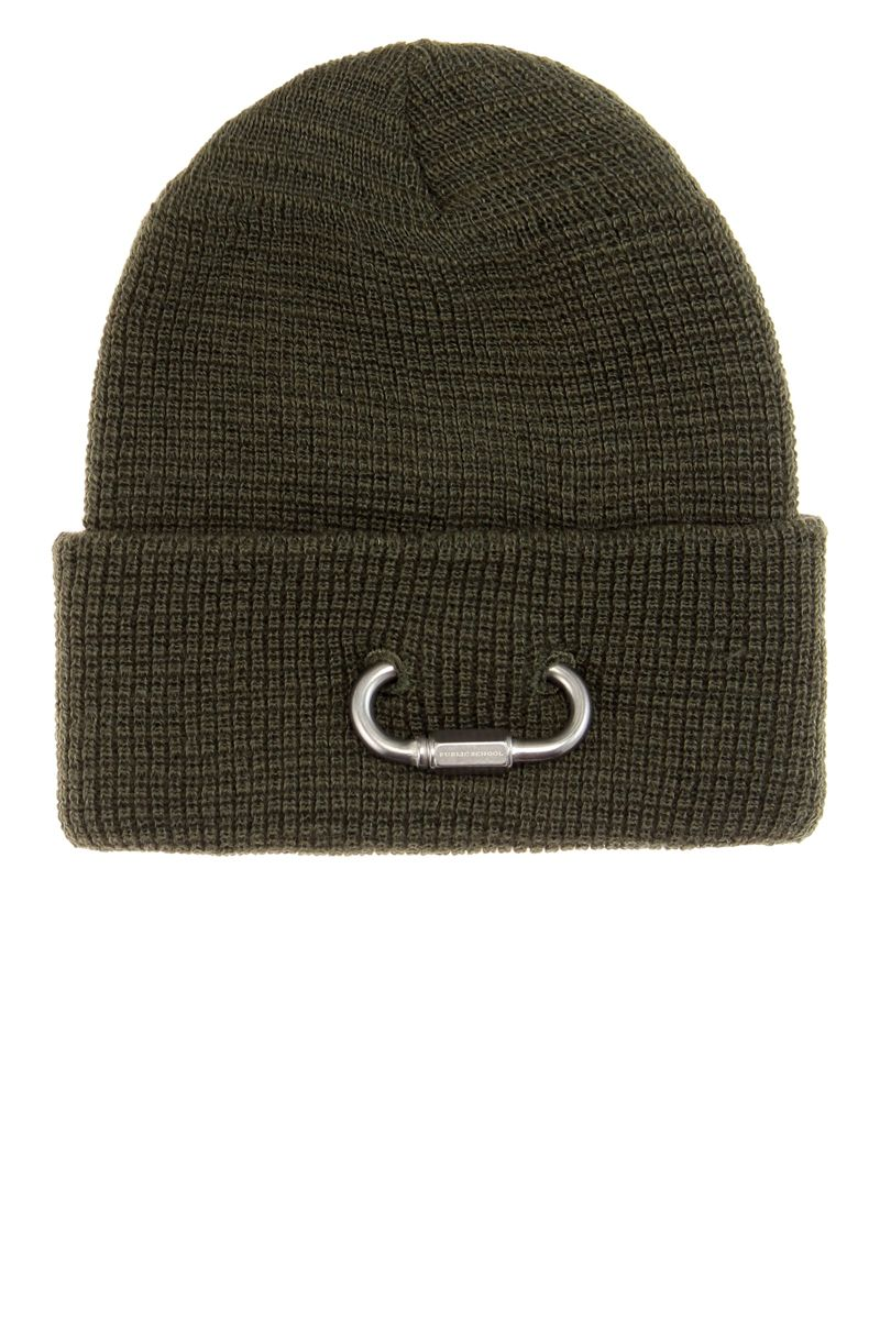 "<p><strong>Public School</strong> hat, $90, <a href=""http://www.mytheresa.com/en-us/mytheresa-com-exclusive-embellished-wool-beanie-631878.html?catref=category"" target=""_blank"">mytheresa.com</a>. </p>"