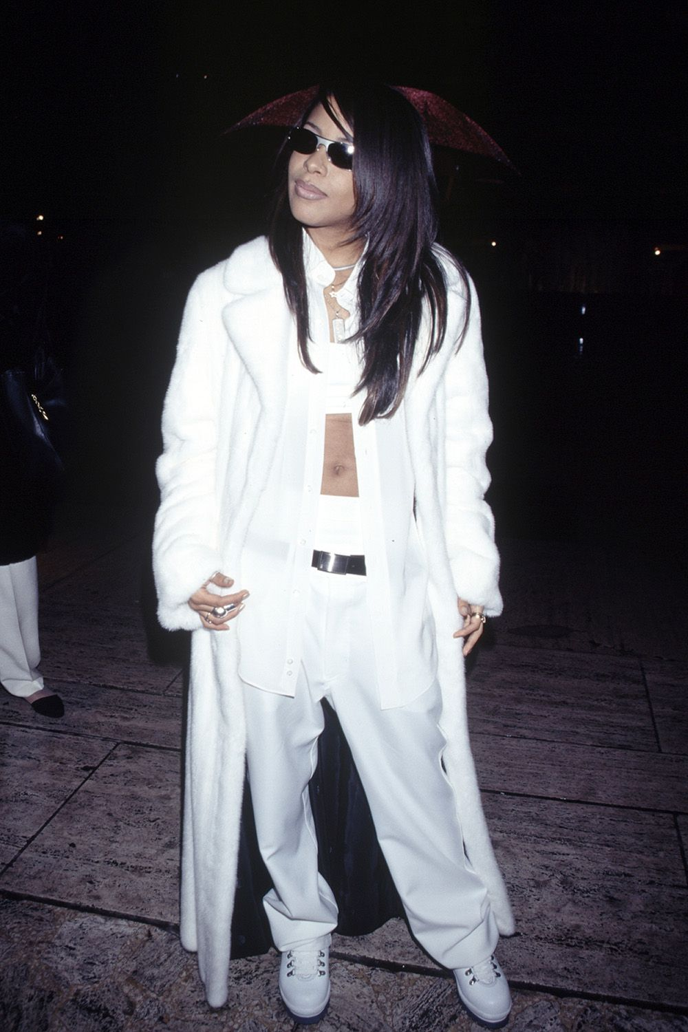 <p>Wearing all white for a night out, 1995</p>