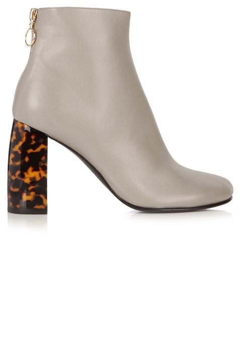 "<p><strong data-redactor-tag=""strong"" data-verified=""redactor"">Stella McCartney</strong> boots, $665, <a href=""http://www.matchesfashion.com/us/products/Stella-McCartney-Tortoiseshell-block-heel-faux-leather-ankle-boots-1052378"" target=""_blank"">matchesfashion.com</a>.</p>"