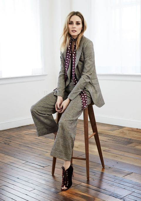 """<p><strong data-redactor-tag=""""strong"""" data-verified=""""redactor"""">Harper's BAZAAR:</strong><strong data-redactor-tag=""""strong"""" data-verified=""""redactor"""">What was the inspiration behind the fall collection?</strong></p><p><strong data-redactor-tag=""""strong"""" data-verified=""""redactor"""">Olivia Palermo:</strong> It was a bit of a mix. We wanted to continue to play with styles that layer or mix and match easily according to your personal taste. We definitely continued with the 70's feel of the spring collection but added fall colors and elements like tie necklines that you can play with in different ways to have a retro or modern feel.</p>"""