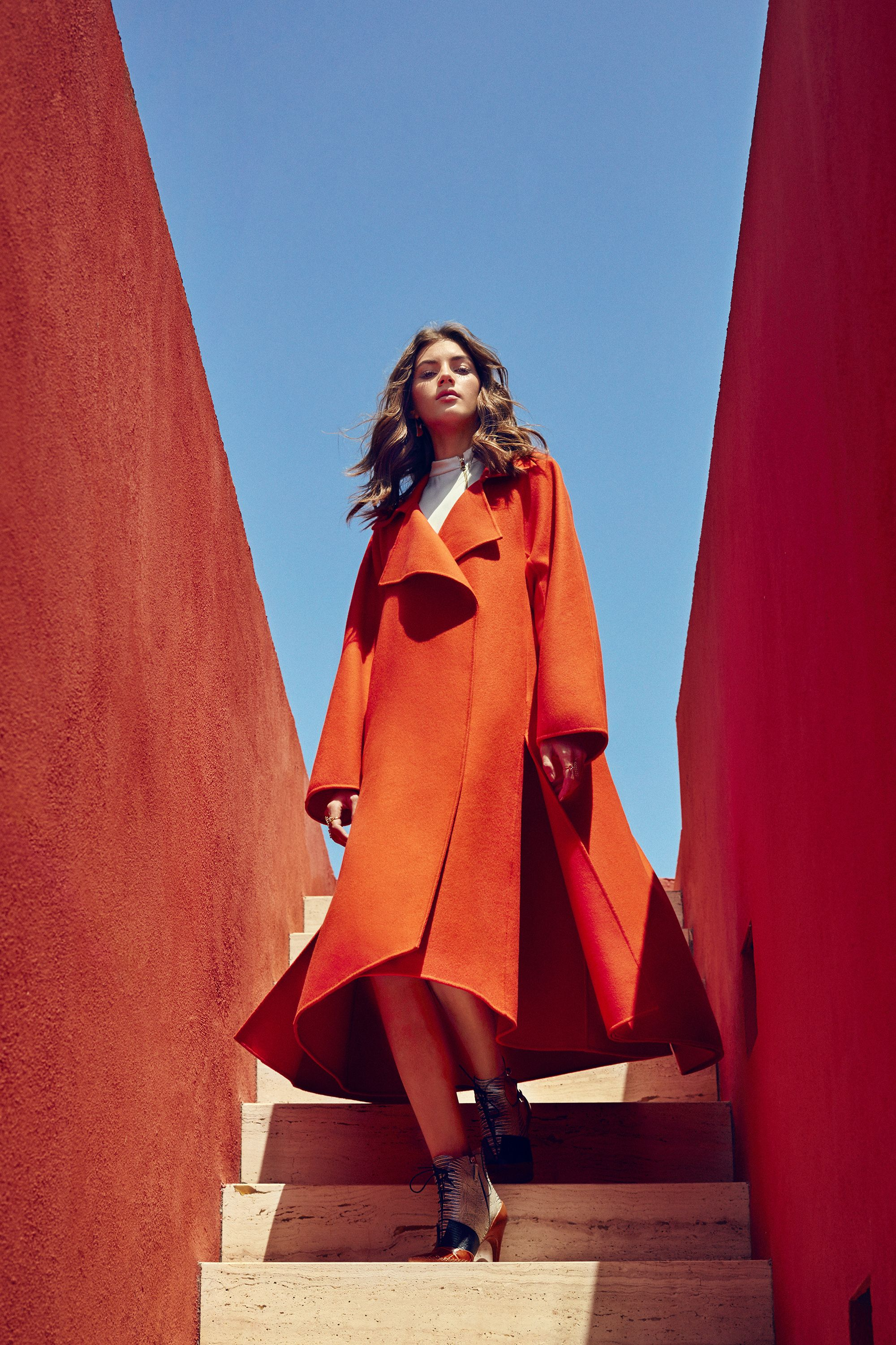 """<p><strong data-redactor-tag=""""strong"""" data-verified=""""redactor"""">Dior </strong>coat, $12,500, top, price upon request,and boots, $1,500, 800-929-DIOR; <strong data-redactor-tag=""""strong"""" data-verified=""""redactor"""">Maiyet </strong>earrings, $385, maiyet.com;<strong data-redactor-tag=""""strong"""" data-verified=""""redactor"""">Delfina Delettrez </strong>rings, $911-$1,117, <a href=""""http://www.farfetch.com/uk/shopping/women/items.aspx"""" target=""""_blank"""">farfetch.com</a>.<span class=""""redactor-invisible-space"""" data-verified=""""redactor"""" data-redactor-tag=""""span"""" data-redactor-class=""""redactor-invisible-space""""></span></p>"""