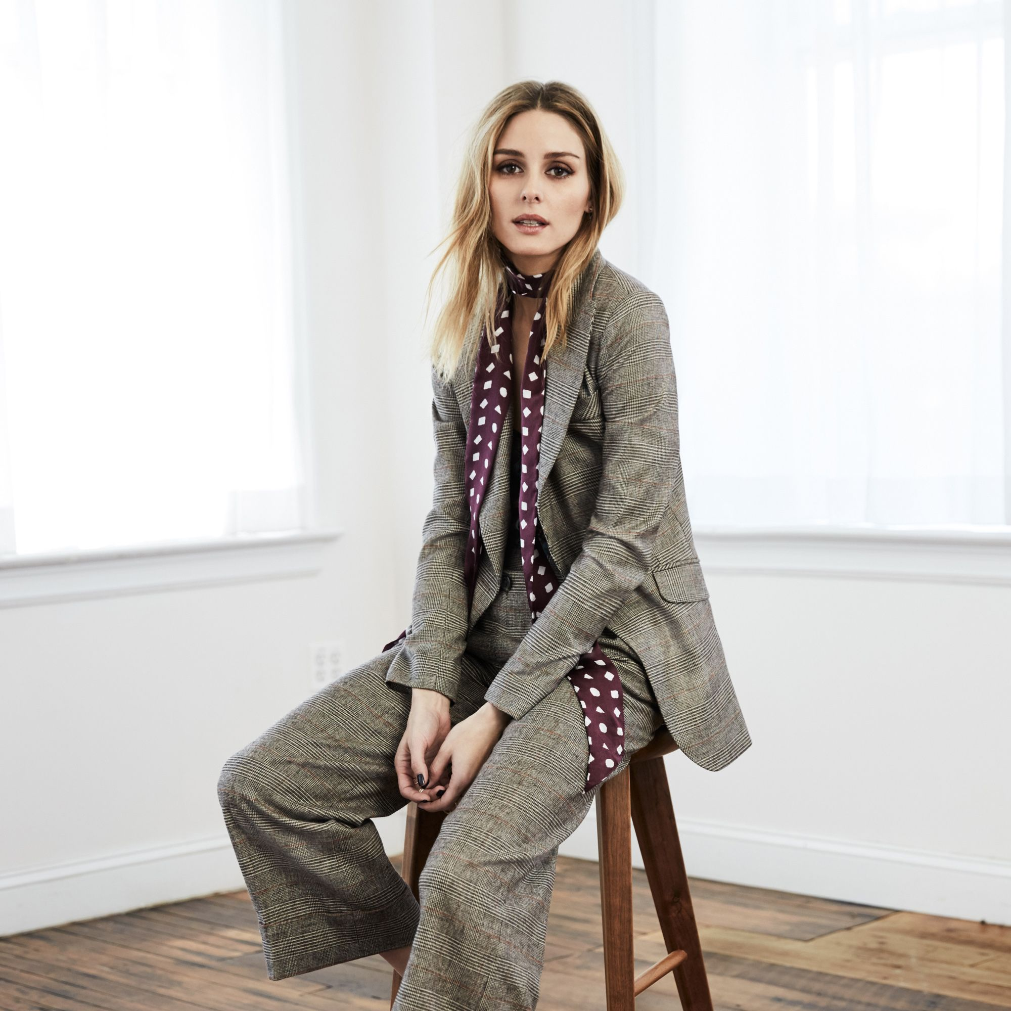 """<p><strong data-redactor-tag=""""strong"""" data-verified=""""redactor"""">Harper's BAZAAR:&nbsp&#x3B;</strong><strong data-redactor-tag=""""strong"""" data-verified=""""redactor"""">What was the inspiration behind the fall collection?</strong></p><p><strong data-redactor-tag=""""strong"""" data-verified=""""redactor"""">Olivia Palermo:</strong> It was a bit of a mix. We wanted to continue to play with styles that layer or mix and match easily according to your personal taste. We definitely continued with the 70's feel of the spring collection but added fall colors and elements like tie necklines that you can play with in different ways to have a retro or modern feel.</p>"""