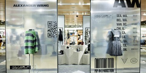 Pattern, Fashion, Dress, Retail, Grey, Advertising, Mannequin, Outlet store, Light fixture, Design,