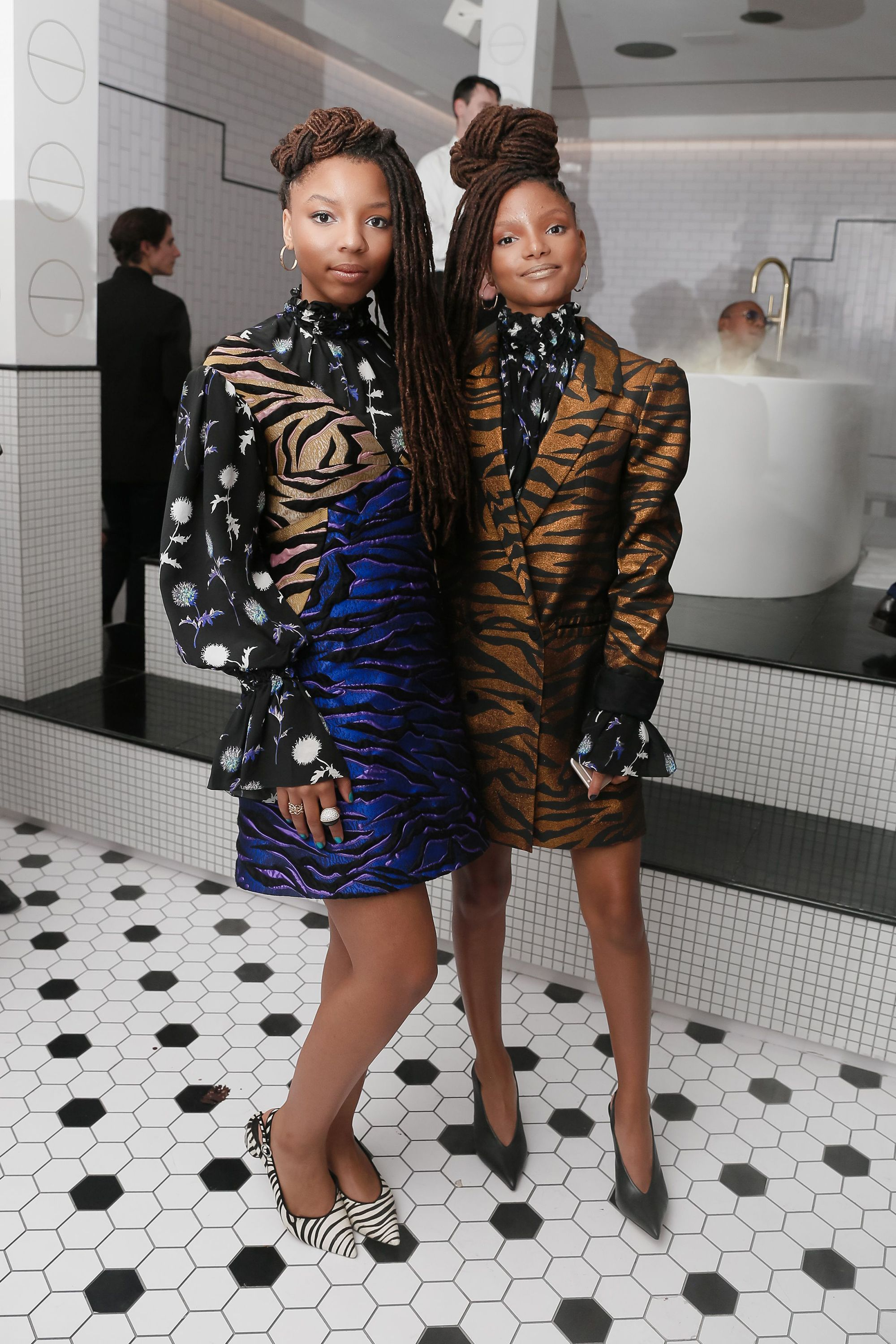 """<p><strong data-redactor-tag=""""strong"""">What</strong>: Kenzo</p><p><strong data-redactor-tag=""""strong"""">Where</strong>: Cartier Fifth Avenue Mansion Reopening</p><p><strong data-redactor-tag=""""strong"""">Why</strong>: It's not surprising that Beyonce's proteges would have a penchant for bold looks—mini style icons in the making.</p>"""