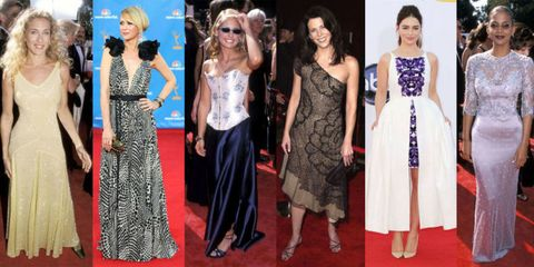 Here's What 57 Celebrities Wore to Their First-Ever Emmy Red Carpets