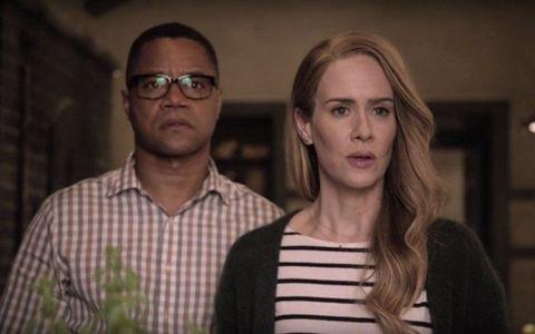 Cuba Gooding Jr as Matt and Sarah Paulson as Shelby in American Horror Story: Roanoke