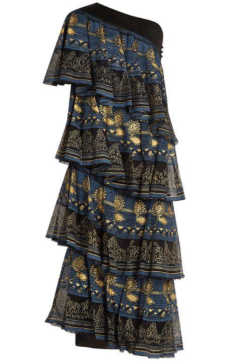 Textile, Pattern, One-piece garment, Electric blue, Linens, Cobalt blue, Day dress, Pattern, Creative arts, Motif,