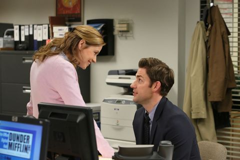 <p>After years of&nbsp;knowing looks, air high-fives&nbsp;and painfully adorable missed opportunities, Jim and Pam finally got together and proved love can happen in the most unlikely of places.&nbsp;</p>