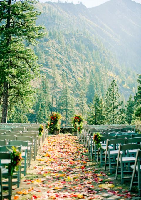 """<p>A wedding beneath the pines is the perfect way to bridge summer and winter. The<a href=""""http://www.sleepinglady.com/"""" target=""""_blank"""" embed_count=""""1"""">Sleeping Lady</a> resort in Leavenworth, Washingtonoffers seven venues for your wedding and reception.Your dreams will be accomodated, whether you're looking to exchange vows atop a picturesque mountainside or wish to be serenaded mid-ceremony by a babbling brook and running waterfall.</p>"""