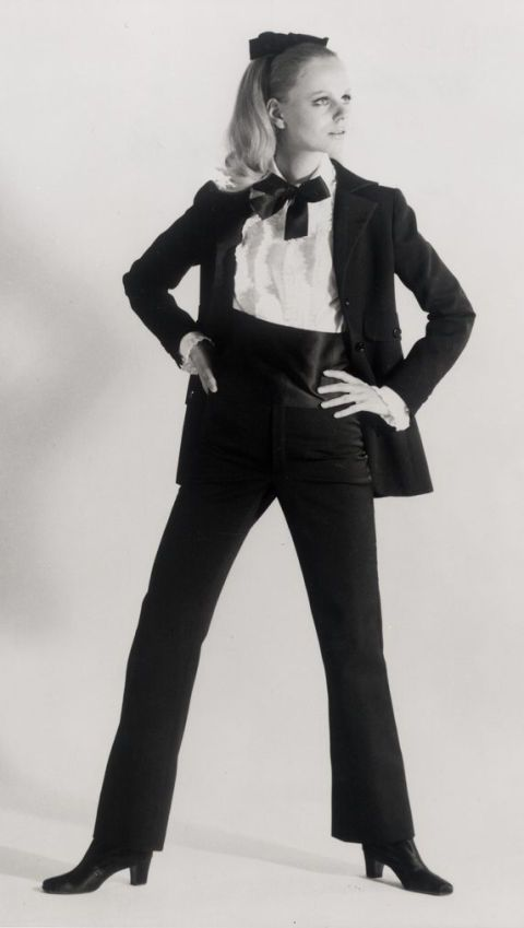 "<p>""First"" tuxedo worn by Ulla, Autumn/Winter 1966 haute couture collection</p>"