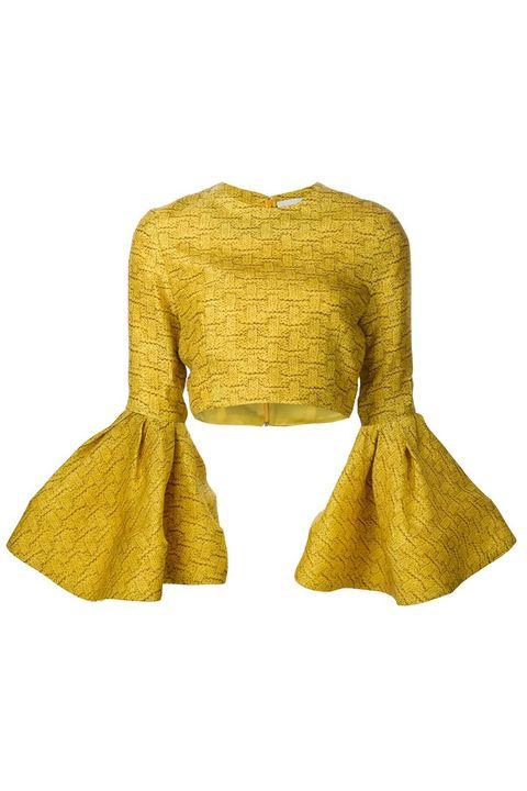 Yellow, Sleeve, Textile, Pattern, Fashion, Woolen, Sweater, Beige, Tan, Khaki,
