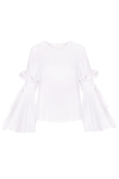Product, Sleeve, Textile, Collar, White, Pattern, Fashion, Grey, Fashion design, Day dress,