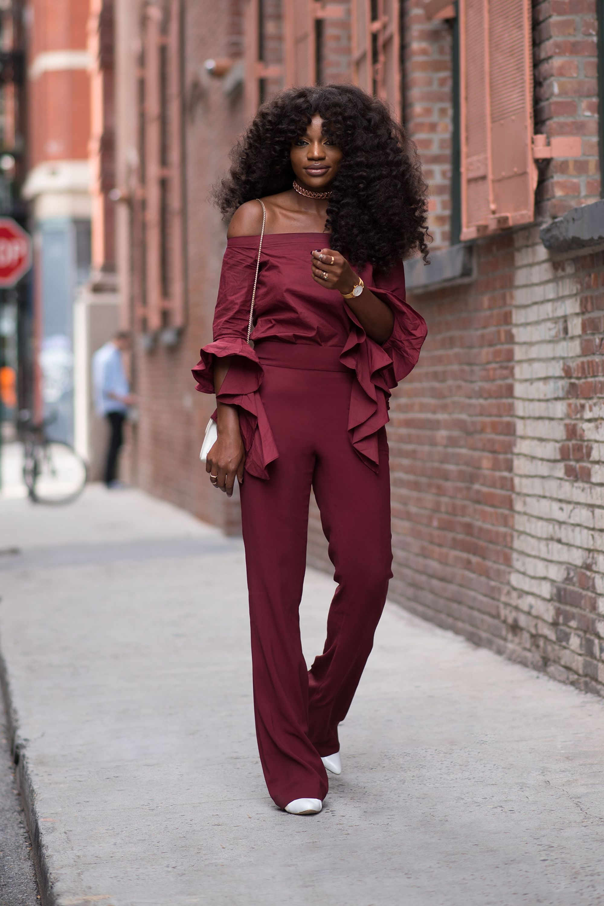 "<p>""Growing up, my mom always matched her handbag with her shoes—that's a style tip I adopted from her,"" Gold says.&nbsp&#x3B;Bonus points for embracing a bold classic fall shade of burgundy. ""It's my go-to color&#x3B;&nbsp&#x3B;I love the contrast of both maroon and white against my complexion.""</p>"