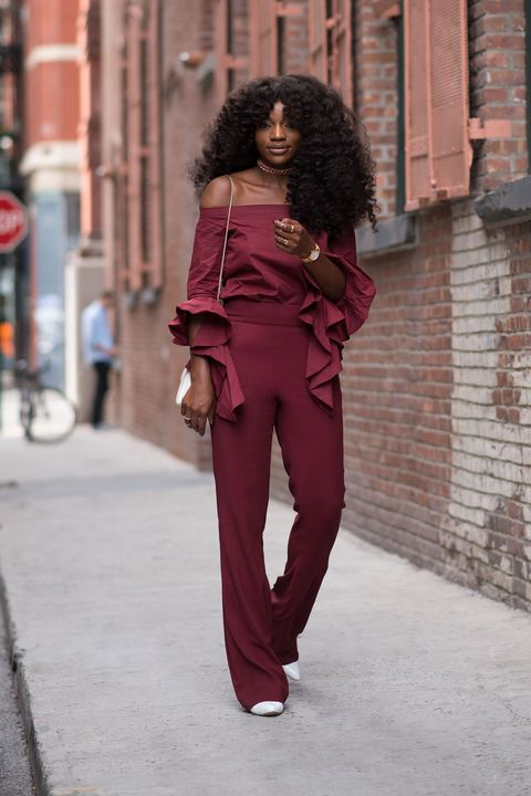 "<p>""Growing up, my mom always matched her handbag with her shoes—that's a style tip I adopted from her,"" Gold says.&nbsp;Bonus points for embracing a bold classic fall shade of burgundy. ""It's my go-to color;&nbsp;I love the contrast of both maroon and white against my complexion.""</p>"