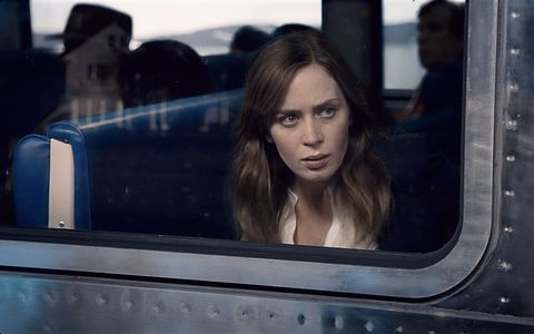 "<p>Rachel Watson (Emily Blunt) observes a neighboring couple daily from her&nbsp;commuter train. But when she witnesses a combative encounter between them, she becomes entangled in the investigation of the woman's disappearance. The film also stars Justin Theroux, Haley Benne, and Lisa Kudrow and is based on Paula Hawkins's best-selling <a href=""https://www.amazon.com/Girl-Train-Paula-Hawkins/dp/1594634025/ref=sr_1_1?ie=UTF8&amp;qid=1475023945&amp;sr=8-1&amp;keywords=girl+on+the+train+paperback"" target=""_blank"">novel of the same name</a>.</p><p>Watch the trailer <a href=""https://www.youtube.com/watch?v=l5_Iiu_uWI8"" target=""_blank"">here</a>.</p>"