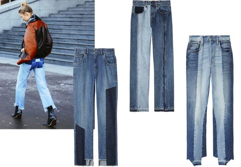 "<p>Vetements designer Demna Gvasalia sparked a denim revolution with his reconstructed vintage jeans, which have become a favorite among the street-style set. Wear them with a statement shoe for optimum impact.<span class=""redactor-invisible-space""></span><br></p><p><span class=""redactor-invisible-space""><br></span></p><p><em data-redactor-tag=""em"" data-verified=""redactor"">Guess jeans, $108, <a href=""http://www.shop.guess.com/"" target=""_blank"">shop.guess.com</a>; Rag & Bone jeans, $425, <a href=""http://rag-bone.com"" target=""_blank"">rag-bone.com</a>; Frame jeans, $449, <a href=""http://frame-store.com"" target=""_blank"">frame-store.com</a>.</em></p>"