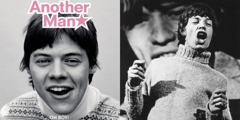 Harry Styles Looks Just Like Mick Jagger On The Cover Of