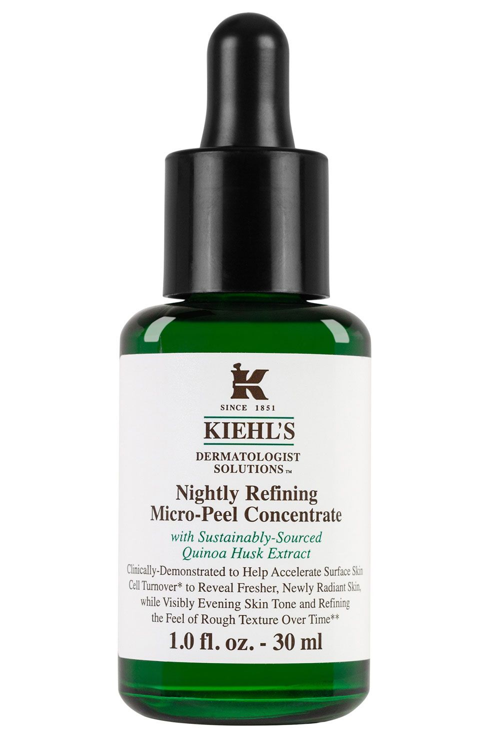 "<p>This nightly serum gently exfoliates skin while you sleep. Just pat a few drops onto your face as part of your nighttime routine (you can layer this under other serums or creams). It doesn't sting or tingle. Instead, you'll just wake up looking just a little glowier, not redder. </p><p><strong data-redactor-tag=""strong"" data-verified=""redactor"">Kiehl's</strong> Nightly Refining Micro-Peel Concentrate, $54, <a href=""https://www.kiehls.com/innovations-nightly-refining-facial-peel"">Kiehl's.com</a></p>"
