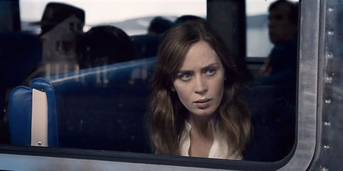 """<p>Rachel Watson (Emily Blunt) observes a neighboring couple daily from her&nbsp;commuter train. But when she witnesses a combative encounter between them, she becomes entangled in the investigation of the woman's disappearance. The film also stars Justin Theroux, Haley Benne, and Lisa Kudrow and is based on Paula Hawkins's best-selling <a href=""""https://www.amazon.com/Girl-Train-Paula-Hawkins/dp/1594634025/ref=sr_1_1?ie=UTF8&amp;qid=1475023945&amp;sr=8-1&amp;keywords=girl+on+the+train+paperback"""" target=""""_blank"""">novel of the same name</a>.</p><p>Watch the trailer <a href=""""https://www.youtube.com/watch?v=l5_Iiu_uWI8"""" target=""""_blank"""">here</a>.</p>"""