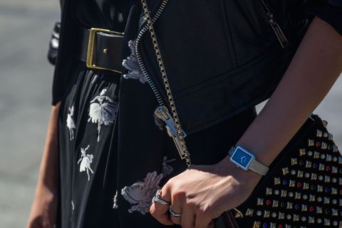 "<p>A hefty belt lifted from a man's closet is perfect for wrapping over a jacket or adding contrast to a floaty, floral dress.</p>  <p><em data-redactor-tag=""em"">          <i data-redactor-tag=""i"">Chanel BOY•FRIEND Small Tweed Watch, $4,600, <a href=""https://www.chanel.com/en_US/watches-jewelry/watches/p/boy-friend-tweed-watch/H4876?WT.mc_id=WJ_WATCHES_boy.friend_tweed_en_US_dis_20161128&amp;WT.mc_t=display&amp;utm_source=hearst&amp;utm_medium=otherdisplay&amp;utm_campaign=boy.friend_tweed"" target=""_blank"" data-tracking-id=""recirc-text-link"">chanel.com</a>; </i><em data-redactor-tag=""em"">Chanel Fine Jewelry Deux Étoiles Ring, $8,100, <a href=""https://www.chanel.com/en_US/watches-jewelry/fine-jewelry/p/comete-ring/J0387?WT.mc_id=WJ_WATCHES_boy.friend_tweed_en_US_dis_20161128&amp;WT.mc_t=display&amp;utm_source=hearst&amp;utm_medium=otherdisplay&amp;utm_campaign=boy.friend_tweed"" target=""_blank"" data-tracking-id=""recirc-text-link"">chanel.com</a>; Chanel Fine Jewelry Coco Crush Ring, $2,350, <a href=""https://www.chanel.com/en_US/watches-jewelry/fine-jewelry/p/coco-crush-ring/J10570?WT.mc_id=WJ_WATCHES_boy.friend_tweed_en_US_dis_20161128&amp;WT.mc_t=display&amp;utm_source=hearst&amp;utm_medium=otherdisplay&amp;utm_campaign=boy.friend_tweed"" target=""_blank"" data-tracking-id=""recirc-text-link"">chanel.com</a>.</em></em></p>"