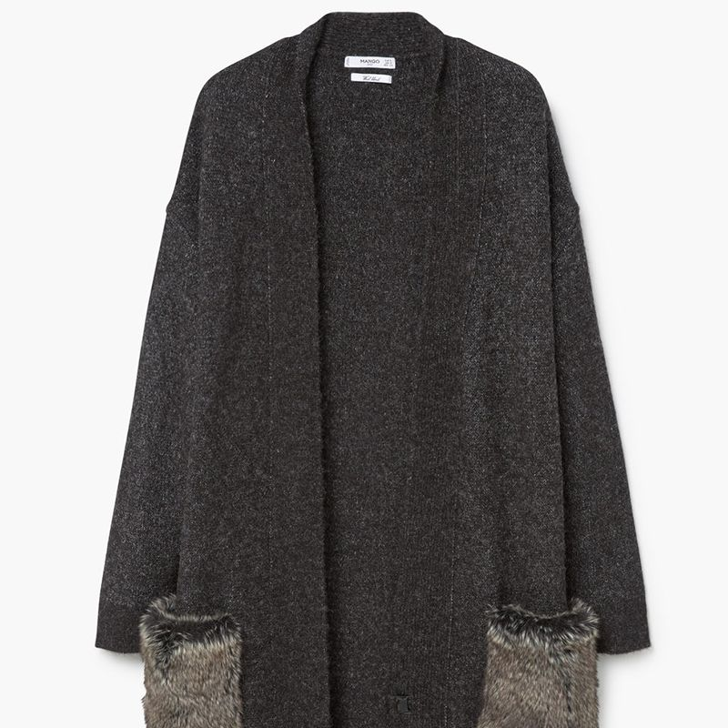 "<p><strong data-redactor-tag=""strong"" data-verified=""redactor"">Mango </strong>cardigan, $90,&nbsp&#x3B;<a href=""http://shop.mango.com/US/p0/woman/clothing/cardigans-and-sweaters/cardigans/faux-fur-pockets-cardigan?id=73025534_96&amp&#x3B;n=1&amp&#x3B;s=prendas.cardigans"" target=""_blank"">mango.com</a>.</p>"