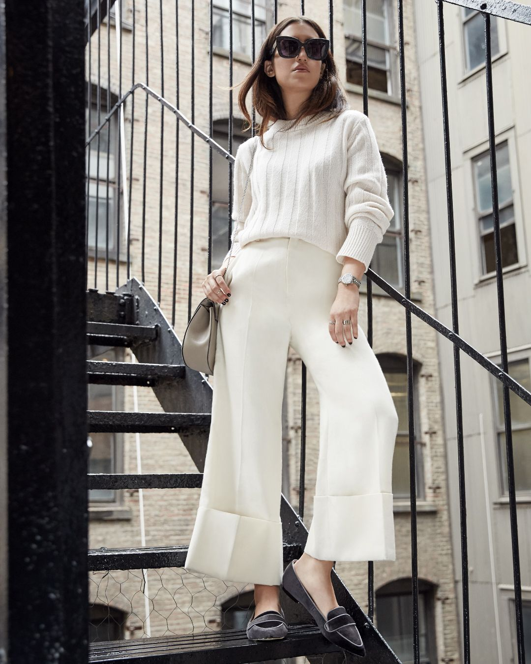 """<p>Ivory-on-ivory always looks chic.Update the monochrome look for Fall '16 with a pair of velvet flats—this season is all about a touch of the plush fabric.<span class=""""redactor-invisible-space"""" data-verified=""""redactor"""" data-redactor-tag=""""span"""" data-redactor-class=""""redactor-invisible-space""""></span></p><p><br></p><p><em data-redactor-tag=""""em"""" data-verified=""""redactor"""">Canvas by Lands' End Women's Crew Neck Sweater, $95,<a href=""""http://www.landsend.com/products/womens-crew-neck-sweater/id_302316?sku_0=::PRC"""" target=""""_blank"""">landsend.com</a>; Canvas by Lands' End Velvet Skimmer Shoes, $75, <a href=""""http://www.landsend.com/products/womens-velvet-skimmer-shoes/id_302881?sku_0=::DKC"""" target=""""_blank"""">landsend.com</a></em></p>"""