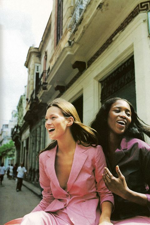 "<p>Kate Moss and Naomi Campbell wore the hue head-to-toe when they were shot by&nbsp;Patrick Demarchelier<span class=""redactor-invisible-space""> for the May 1998 issue of Harper's BAZAAR in Cuba.&nbsp;</span></p><p><span class=""redactor-invisible-space""></span></p>"