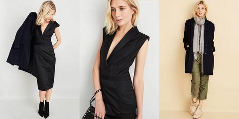 Clothing, Dress, Sleeve, Shoulder, Joint, Formal wear, Collar, Style, Fashion model, Little black dress,