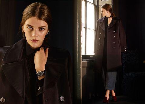 Sleeves, Collar, Coat, Outerwear, Jacket, Style, Street fashion, Dark hair, Blazer, Fashion,