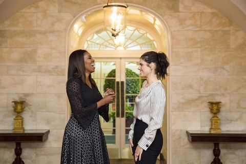 b9f947e41c7 Michelle Obama with Meredith Koop prior to the 2016 National Student Poets  ceremony in the White House