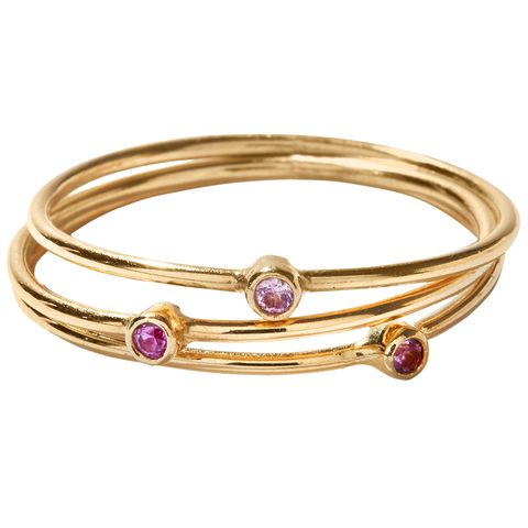 "<p>""I have a stack of Jennifer Meyer pinkie rings that&nbsp;I never take off, and a Cartier Love bracelet that&nbsp;my godparents gave me for my 40th birthday.&nbsp;I am very sentimental about jewelry.""</p><p><em data-redactor-tag=""em"" data-verified=""redactor"">Jennifer Meyer<span class=""redactor-invisible-space"" data-verified=""redactor"" data-redactor-tag=""span"" data-redactor-class=""redactor-invisible-space""> r</span>ings,&nbsp;$175 each,&nbsp;<a href=""https://www.ylang23.com/"" target=""_blank"">ylang23.com</a>.&nbsp;</em></p>"