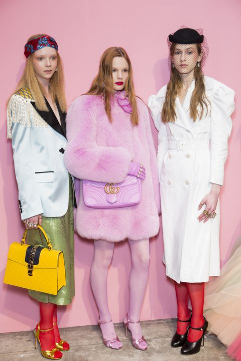 "<p>Alessandro Michele<span class=""redactor-invisible-space"">'s Gucci is a colorful one, and his fall 2016 collection has many a hint of pink.&nbsp;</span></p>"