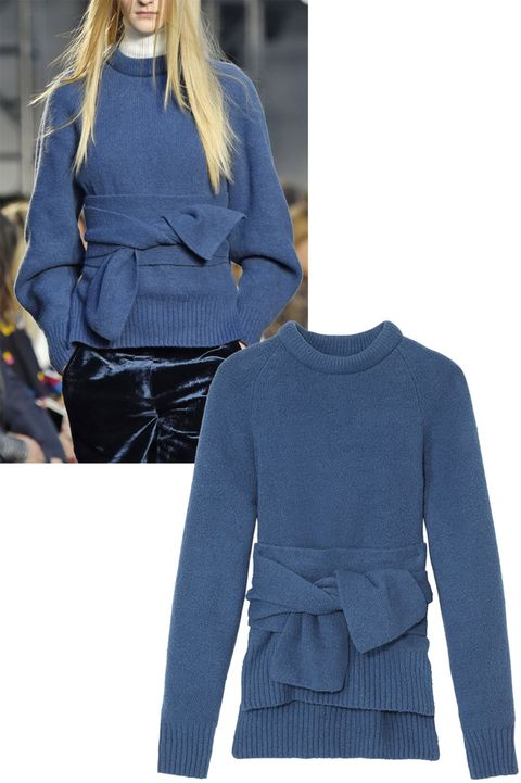 "<p>Fashionable and flattering, a tie-waist sweater offers a modern twist on a classic. </p><p><em data-redactor-tag=""em"" data-verified=""redactor"">3.1 Phillip Lim pullover, $475, <strong data-redactor-tag=""strong"" data-verified=""redactor""><a href=""https://shop.harpersbazaar.com/0-9/31-phillip-lim/obi-belted-pullover-9919.html"" target=""_blank"" data-tracking-id=""recirc-text-link"">shopBAZAAR.com</a></strong>.  </em></p>"