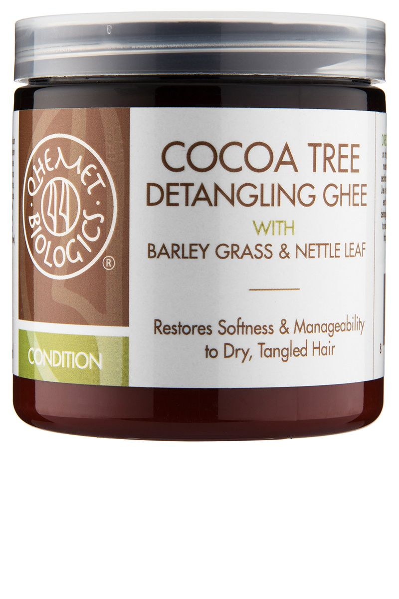 """<p>The pure cocoa butter lends a chocolate-y smell to this super-detangling conditioner (if you're not into that kind of thing, head's up). Work it through dry hair to unwind even the nastiestsnarls and tangles, or through wet hair to add a bit of slip and shine.</p><p><strong data-redactor-tag=""""strong"""" data-verified=""""redactor"""">Qhemet Biologics</strong> Cocoa Tree Detangling Ghee<span class=""""redactor-invisible-space"""" data-verified=""""redactor"""" data-redactor-tag=""""span"""" data-redactor-class=""""redactor-invisible-space"""">, $22, <a href=""""http://www.sephora.com/cocoa-tree-detangling-ghee-P398113"""" target=""""_blank"""" data-tracking-id=""""recirc-text-link"""">sephora.com</a></span><br></p>"""