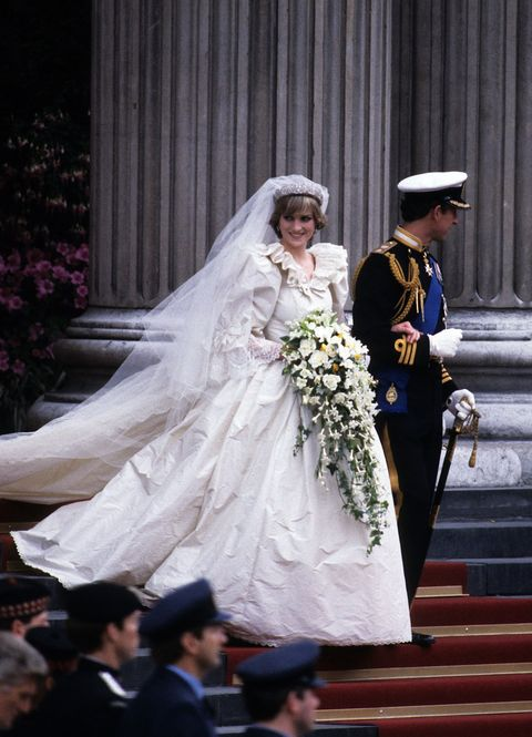 "<p>Let's start with one of the most elegant brides of all time: Princess Diana. At just 20 years old, she married Prince Charles on July 29, 1981, and wore a dress reportedly <a href=""http://people.com/royals/prince-charles-and-princess-dianas-royal-wedding-35-years-later/"" target=""_blank"" data-tracking-id=""recirc-text-link"">worth $12,000</a> (approximately $31,000 in 2016). The gown, designed by Elizabeth and David Emanuel, featured a stunning 25-foot train, hand-embroidered details and a whopping 10,000 pearls.</p>"