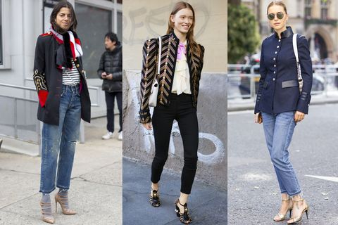 "<p>This season's best jackets are part tailored military, part Sgt. Pepper's Lonely Hearts Club Band. Layer one over a T-shirt and jeans, add an edgy pair of boots, and you're ready to hit the stage. <span class=""redactor-invisible-space"" data-verified=""redactor"" data-redactor-tag=""span"" data-redactor-class=""redactor-invisible-space""></span></p>"