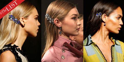 Hair, Ear, Earrings, Hairstyle, Chin, Eyebrow, Fashion accessory, Hair accessory, Eyelash, Style,