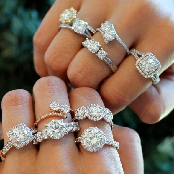 """<p>""""First and foremost, choose a diamond and a setting that complement your lifestyle and your aesthetic, but be sure the setting doesn't overpower your diamond, and makes it the hero and focal point,"""" says Skaret. Marc Kiselstein of<a href=""""http://www.jalbertjohnsonjewelers.com/"""" target=""""_blank"""" data-tracking-id=""""recirc-text-link"""">J. Albert Johnson Jewelers</a>(a Forevermark Black Label Jeweler)adds,""""The more traditional woman is attracted to classic-shaped diamonds like round and square-cut solitaires. There are also fancy shape diamonds, like Asscher, emerald, oval, pear, marquise and morefor the woman who wants something a little different."""" </p>"""