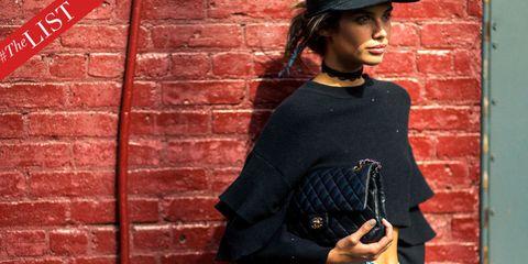 Brick, Sleeve, Hat, Brickwork, Headgear, Costume accessory, Street fashion, Fedora, Costume hat, Belt,