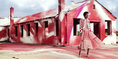 Window, Red, Pink, House, Brick, Roof, Tints and shades, Maroon, Magenta, Street fashion,