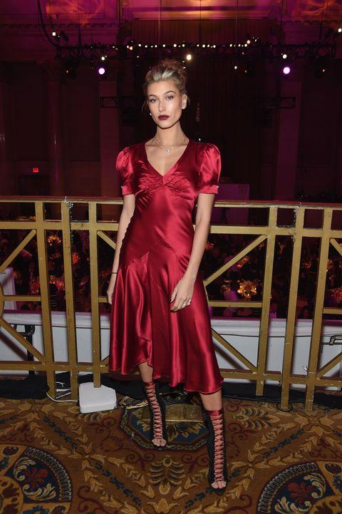 Dress, Magenta, Pink, Floor, Flooring, Fashion accessory, Fashion, Boot, Fashion model, One-piece garment,