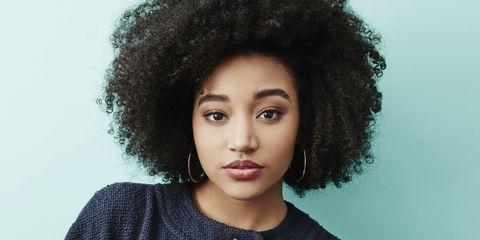 Lip, Hairstyle, Chin, Eyebrow, Jheri curl, Black hair, Style, Eyelash, Fashion, Afro,