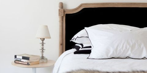 Room, Textile, Lamp, Bedding, Interior design, Linens, Bedroom, Bed sheet, Lampshade, Duvet,