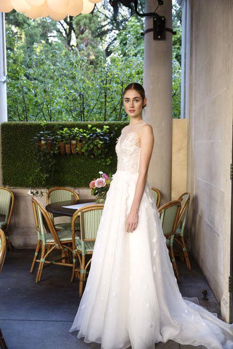 Clothing, Dress, Shoulder, Textile, Bridal clothing, Photograph, Wedding dress, Formal wear, Gown, Bride,
