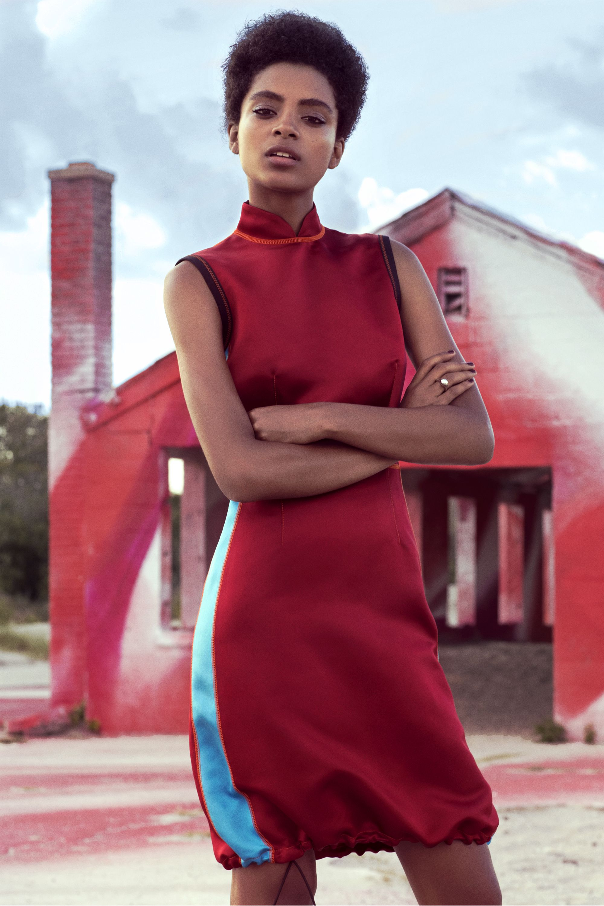 """<p><strong data-redactor-tag=""""strong"""" data-verified=""""redactor"""">Prada</strong> dress, $2,200, <a href=""""http://prada.com"""" target=""""_blank"""" data-tracking-id=""""recirc-text-link"""">prada.com</a>;<strong data-redactor-tag=""""strong"""">Jennifer Fisher</strong>ring, $245,<a href=""""http://shopbazaar.com/"""" target=""""_blank"""" data-tracking-id=""""recirc-text-link"""">shopBAZAAR.com</a>.<span class=""""redactor-invisible-space"""" data-verified=""""redactor"""" data-redactor-tag=""""span"""" data-redactor-class=""""redactor-invisible-space""""></span></p>"""