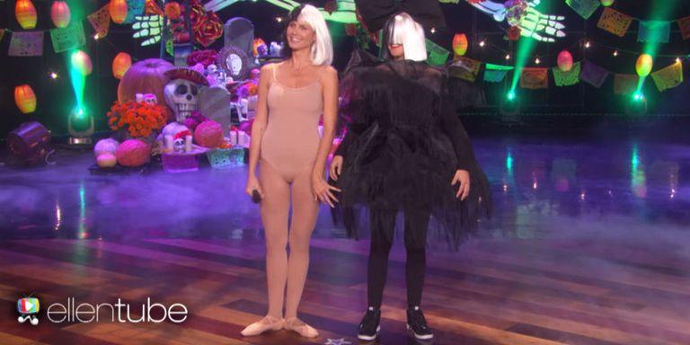 Ellen DeGeneres and Heidi Klum Are Sia and Maddie Ziegler for ...